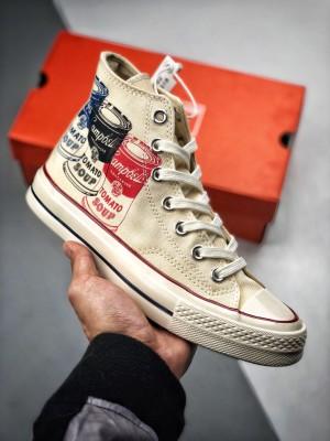 Converse Chuck 70s All Star OX  番茄罐头涂鸦 三星标休闲运动帆布板鞋