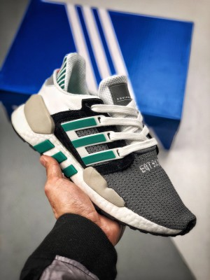 正确鱼鳞Boost Adidas Originals EQT SUPPORT 91/18CORE Boost 慢跑鞋