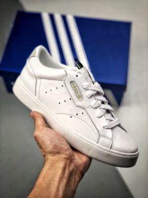 渠道莞产订单 19ss官方同步 Adidas Sleek W 纯白 DB3258