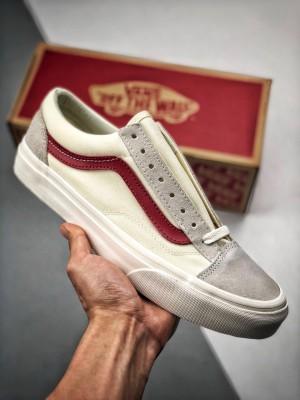 #渠道海外专柜订单 少量释放 Vans Vault OG Style 36 小头白红 原厂钢印
