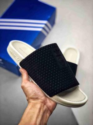 ADILETTE LUXE W  黑白波点拖 高弹新科技鞋底 官方蓝盒、