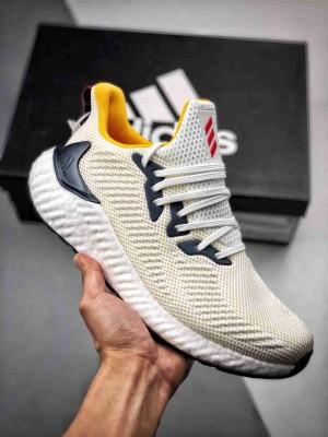 "Adidas Alphaboost System ""白黄电镀""阿尔法高弹 德国马牌大底  鲨鱼鳃纹Boost大底"