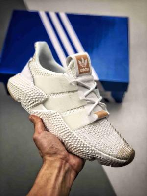 Adidas Originals Prophere  恐惧鲨鱼 白铜 货号BD7834 区别市面鞋面凹塌版本