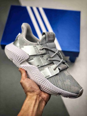 Adidas Originals Prophere  恐惧鲨鱼 液态银 货号BD7834 区别市面鞋面凹塌版本 全新改版鞋面材质,