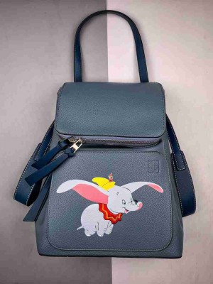 LOEWE罗意威推出迪士尼小飞象系列限量版双肩包---Goya Dumbo Small Backpack 这只扑扇着大耳朵