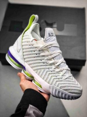 """纯原最高工艺 新配色实战版本# Nike Lebron XVI """"Buzz Lightyear"""" 勒布朗詹姆斯16代 白绿巴斯光年"""