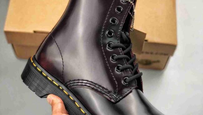 Dr.martens 1460 擦酒红  经典八孔马丁靴 正品代工厂订单