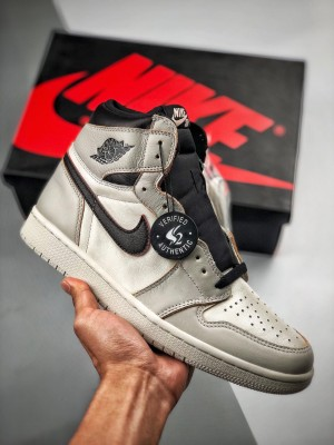 "Nike SB x Air Jordan 1 Retro High OG  ""Light Bone"" 灰黑 「刮刮乐」"