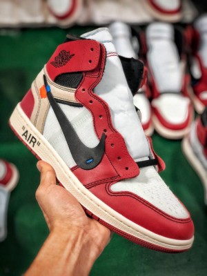 Air Jordan 1 x OFF-WHITE 白红芝加哥<br>