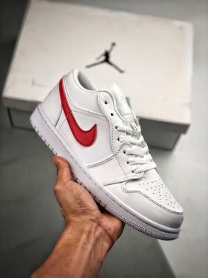 Air Jordan 1 Low 大学白红