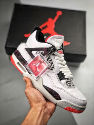 "Air Jordan 4 ""Hot Lava""   白红 / 热熔岩"