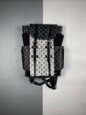 1V 银/黑花 CHRISTOPHER 小号双肩包