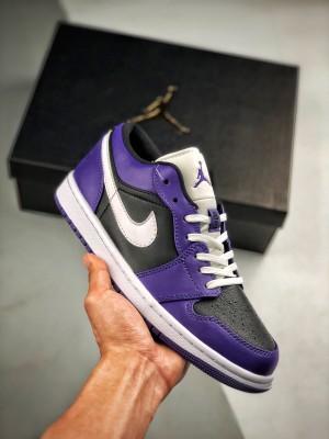 Air Jordan 1 Low 黑紫
