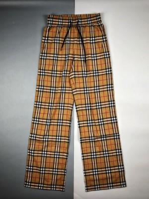 Burberry/博柏利 20ss  经典Vintage格子拼接黑边长裤