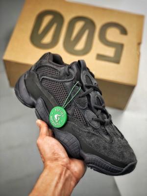 Adidas Yeezy500 Utility Black 纯黑配色
