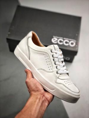官网新款 ECCO爱步黄景瑜同款 休闲板鞋小白鞋