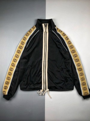 高端零售版本✊ Gucci/古驰 20ss 饰互扣式反光G条纹长袖开衫外套