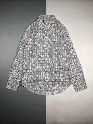 Dior/迪奥20ss联名限量款满印logo提花衬衫长袖