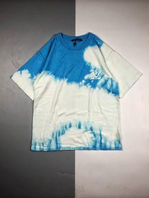 驴牌 20Ss 天空云朵扎染刺绣Logo短袖T恤