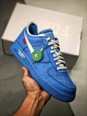 "OFF-WHITE X Air Force 1""MCA""  蓝色艺术馆"
