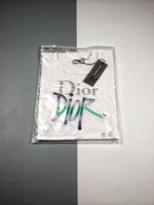 Dior 20ss 渐变LOGO刺绣短袖