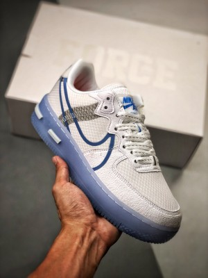 Air Force 1 React QS Light Bone   内置SRLE气垫清新十足 蓝勾冰块