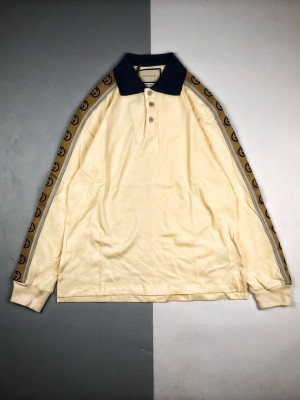 Gucci/古驰 20ss 反光织带Polo长袖