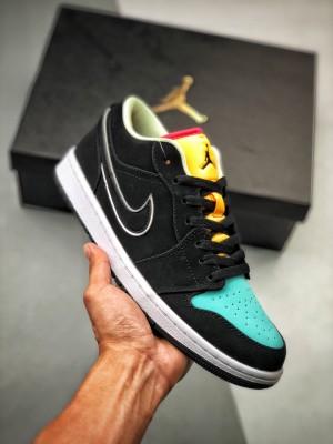 Air Jordan 1 黄绿小钻石低帮