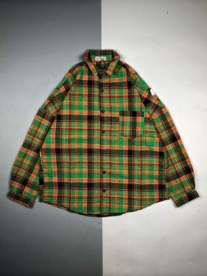 Palm Angels/棕榈天使 19Fw 橙绿格子长袖衬衫