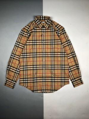 高端零售版本🧐 Burberry/博柏利20Fw 经典格纹长袖衬衫