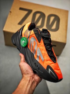 AD Yeezy Boost 700 MNVN  S2纯原生产线 黑橙3M反光