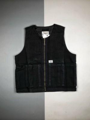 WTAPS 19FW 军事风工装多口袋做旧背心马甲