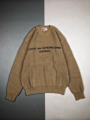 Supreme X Comme des Garcons 18FW 徽标针织毛衣