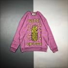 G家 20Fw 菠萝徽标印花长袖圆领卫衣