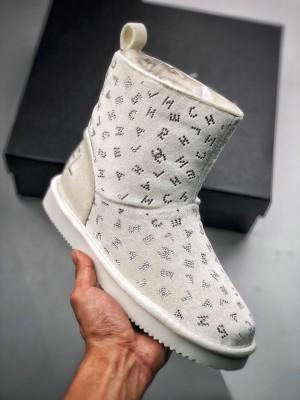 Chanel/香奈儿 20秋冬女靴 满字母logo印花毛绒防滑雪地靴