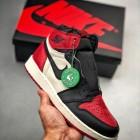 S2纯原生产线 裸鞋级产物 Air Jordan 1 Retro Bred Toe 黑红脚趾