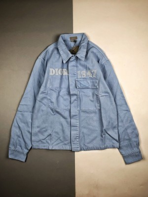 Dior/迪奥 20ss 1947徽标字母刺绣牛仔外套