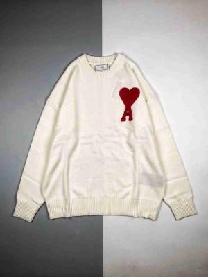 Alexandre Mattiussi 20Fw 爱心标志针织长袖圆领卫衣毛衣