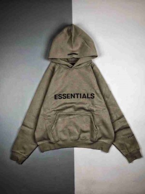 Fear Of God -Essentials 20Fw 徽标压花印花长袖连帽卫衣