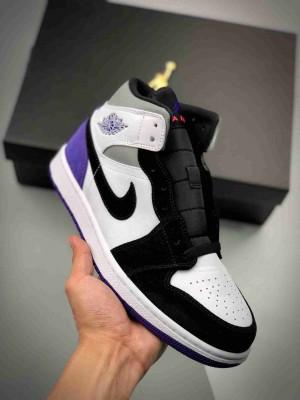 Air Jordan 1 Mid 黑白紫