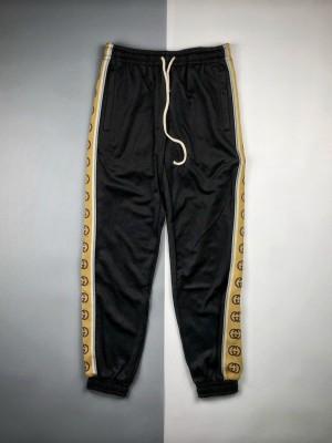 Gucci/古驰 20ss 饰互扣式反光G条纹长裤