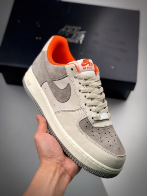 Air Force 1 '07 灰橙麂皮