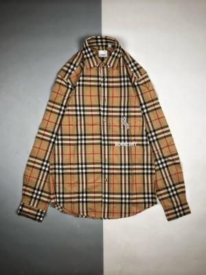 Burberry/博柏利 19Fw 独角斑马经典格纹长袖衬衫