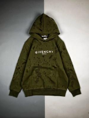 Givenchy/纪梵希 20Fw 大破洞长袖连帽卫衣