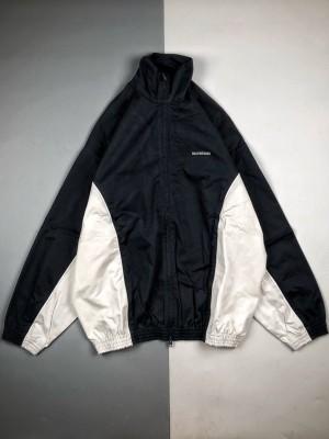 Balenciaga/巴黎世家 20Fw 拼色长袖开衫夹克冲锋衣