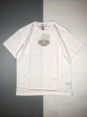 Burberry巴宝莉BBR 2021ss胸口几何刺绣图案短袖T恤