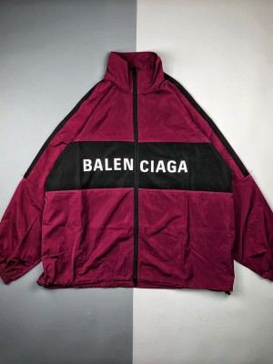 Balenciaga/巴黎世家 20ss 撞色拼接字母徽标长开衫袖外套