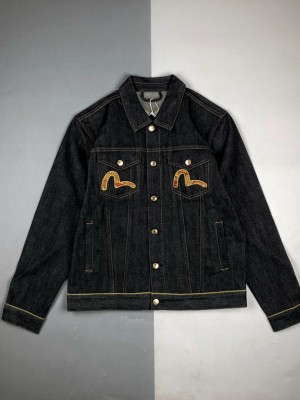 Evisu/福神21ss牛年限量限定大M金牛刺绣牛仔长袖外套