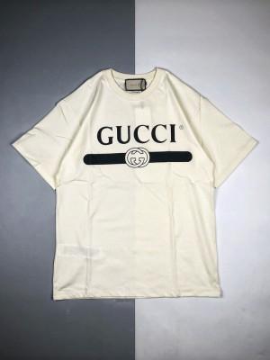 Gucci/古驰 21ss 经典横杆腰带Logo印花短袖