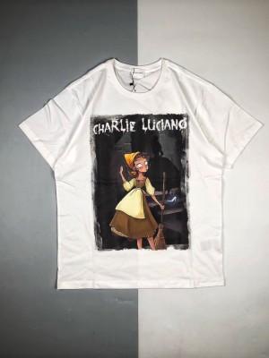 CHARLIE LUCIANO/蔻驰 19ss 暗黑童话系列灰姑娘印花短袖